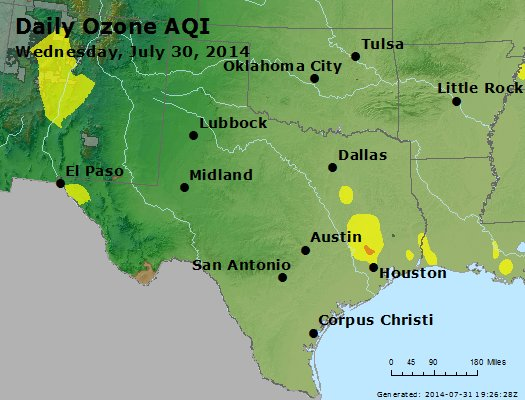 Peak Ozone (8-hour) - https://files.airnowtech.org/airnow/2014/20140730/peak_o3_tx_ok.jpg
