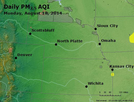 Peak Particles PM<sub>2.5</sub> (24-hour) - https://files.airnowtech.org/airnow/2014/20140818/peak_pm25_ne_ks.jpg