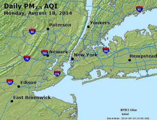 Peak Particles PM<sub>2.5</sub> (24-hour) - https://files.airnowtech.org/airnow/2014/20140818/peak_pm25_newyork_ny.jpg