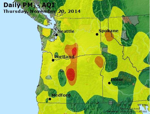 Peak Particles PM2.5 (24-hour) - https://files.airnowtech.org/airnow/2014/20141120/peak_pm25_wa_or.jpg