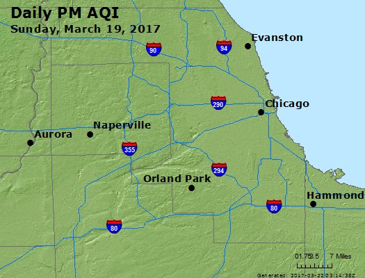 Peak Particles PM<sub>2.5</sub> (24-hour) - https://files.airnowtech.org/airnow/2017/20170319/peak_pm25_chicago_il.jpg