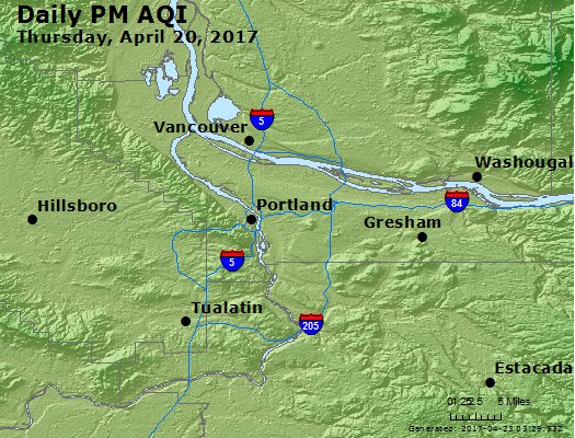 Peak Particles PM<sub>2.5</sub> (24-hour) - https://files.airnowtech.org/airnow/2017/20170420/peak_pm25_portland_or.jpg
