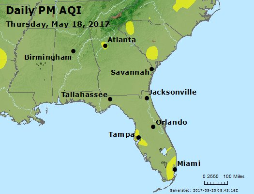Peak Particles PM2.5 (24-hour) - https://files.airnowtech.org/airnow/2017/20170518/peak_pm25_al_ga_fl.jpg