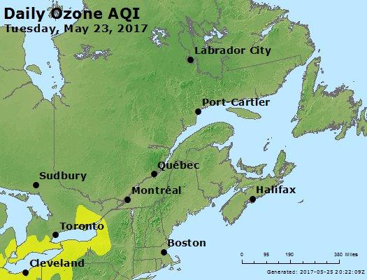 Peak Ozone (8-hour) - https://files.airnowtech.org/airnow/2017/20170523/peak_o3_eastern_canada.jpg
