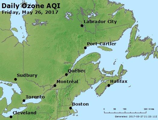 Peak Ozone (8-hour) - https://files.airnowtech.org/airnow/2017/20170526/peak_o3_eastern_canada.jpg