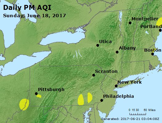 Peak Particles PM<sub>2.5</sub> (24-hour) - https://files.airnowtech.org/airnow/2017/20170618/peak_pm25_ny_pa_nj.jpg