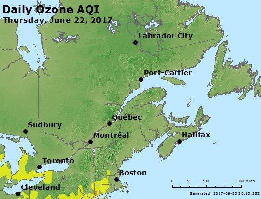 Peak Ozone (8-hour) - https://files.airnowtech.org/airnow/2017/20170622/peak_o3_eastern_canada.jpg