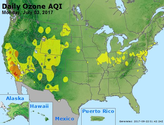 Peak Ozone (8-hour) - https://files.airnowtech.org/airnow/2017/20170703/peak_o3_usa.jpg