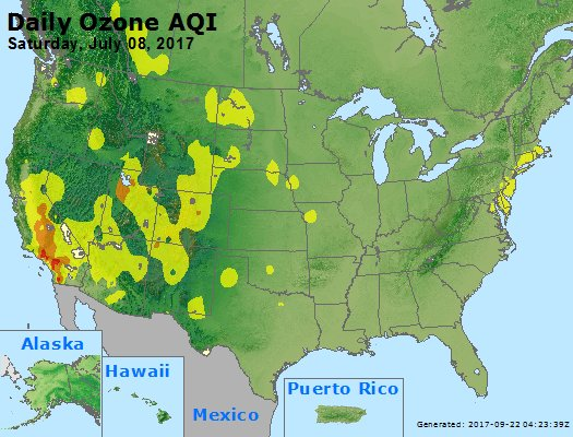 Peak Ozone (8-hour) - https://files.airnowtech.org/airnow/2017/20170708/peak_o3_usa.jpg