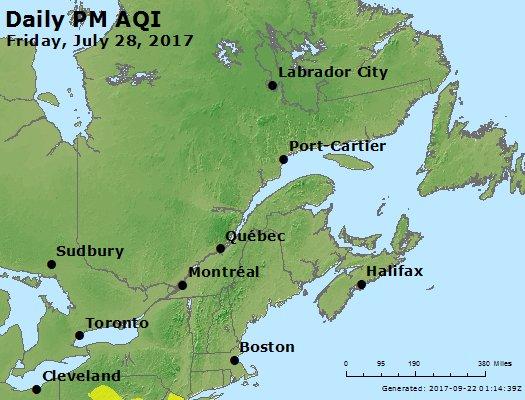 Peak Particles PM2.5 (24-hour) - https://files.airnowtech.org/airnow/2017/20170728/peak_pm25_eastern_canada.jpg