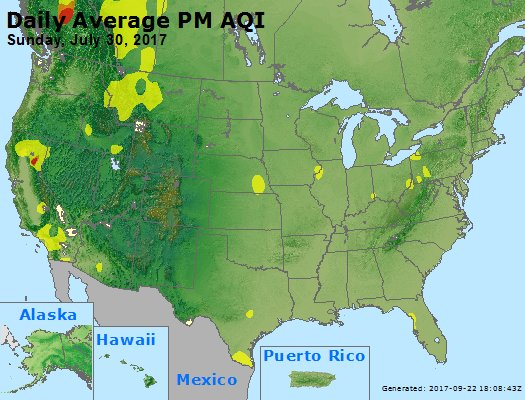 Peak Particles PM2.5 (24-hour) - https://files.airnowtech.org/airnow/2017/20170730/peak_pm25_usa.jpg