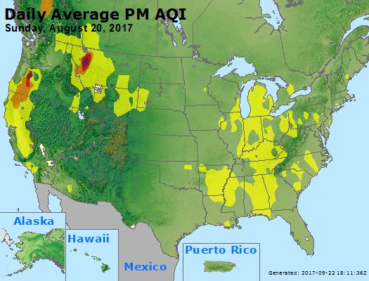 Peak Particles PM2.5 (24-hour) - https://files.airnowtech.org/airnow/2017/20170820/peak_pm25_usa.jpg