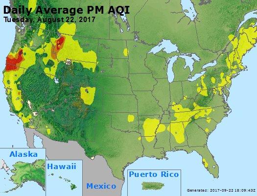 Peak Particles PM2.5 (24-hour) - https://files.airnowtech.org/airnow/2017/20170822/peak_pm25_usa.jpg