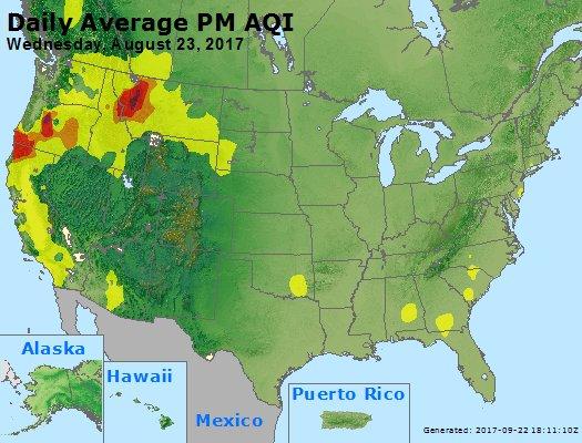 Peak Particles PM2.5 (24-hour) - https://files.airnowtech.org/airnow/2017/20170823/peak_pm25_usa.jpg