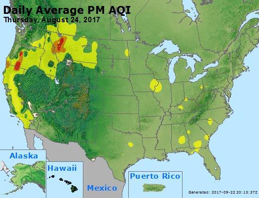 Peak Particles PM2.5 (24-hour) - https://files.airnowtech.org/airnow/2017/20170824/peak_pm25_usa.jpg
