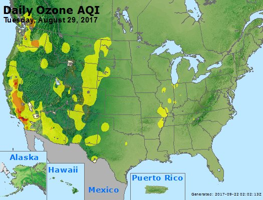 Peak Ozone (8-hour) - https://files.airnowtech.org/airnow/2017/20170829/peak_o3_usa.jpg