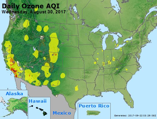 Peak Ozone (8-hour) - https://files.airnowtech.org/airnow/2017/20170830/peak_o3_usa.jpg