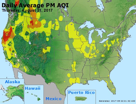 Peak Particles PM2.5 (24-hour) - https://files.airnowtech.org/airnow/2017/20170831/peak_pm25_usa.jpg