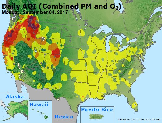 Air Quality Map United States.Airnow Maps Archives