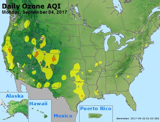 Peak Ozone (8-hour) - https://files.airnowtech.org/airnow/2017/20170904/peak_o3_usa.jpg