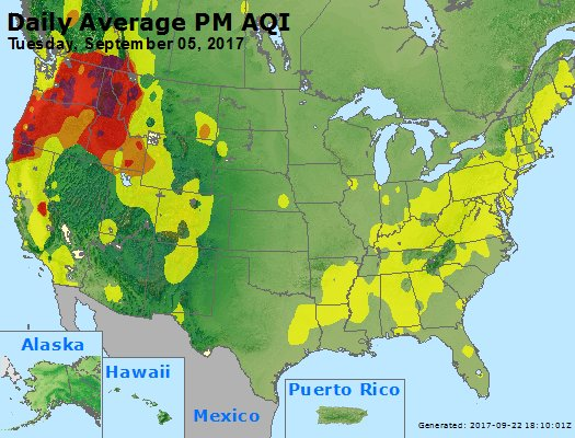 Peak Particles PM2.5 (24-hour) - https://files.airnowtech.org/airnow/2017/20170905/peak_pm25_usa.jpg
