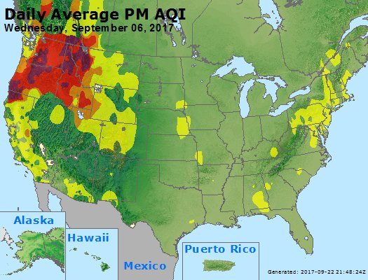 Peak Particles PM2.5 (24-hour) - https://files.airnowtech.org/airnow/2017/20170906/peak_pm25_usa.jpg