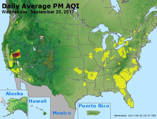 Peak Particles PM2.5 (24-hour) - https://files.airnowtech.org/airnow/2017/20170920/peak_pm25_usa.jpg