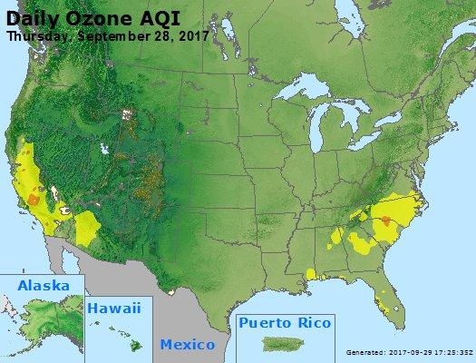 Peak Ozone (8-hour) - https://files.airnowtech.org/airnow/2017/20170928/peak_o3_usa.jpg