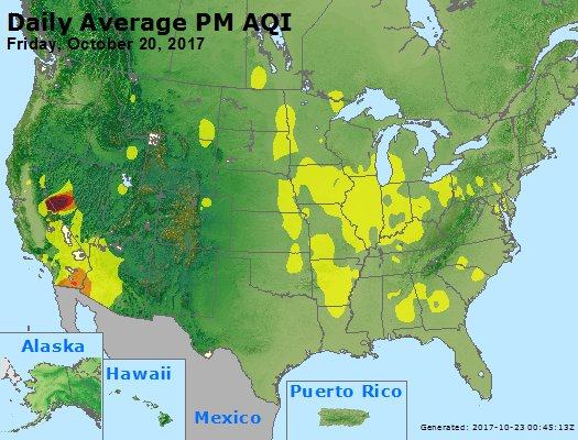 Peak Particles PM2.5 (24-hour) - https://files.airnowtech.org/airnow/2017/20171020/peak_pm25_usa.jpg