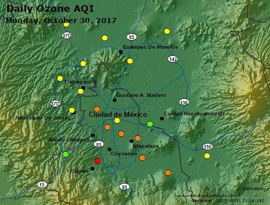 Peak Ozone (Mexico) - https://files.airnowtech.org/airnow/2017/20171030/peak_ozone_mexico_city.jpg
