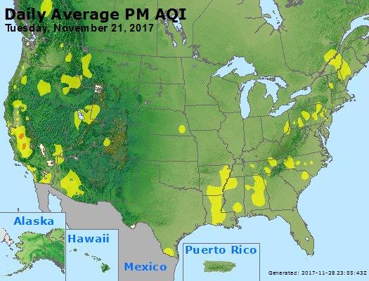 Peak Particles PM2.5 (24-hour) - https://files.airnowtech.org/airnow/2017/20171121/peak_pm25_usa.jpg