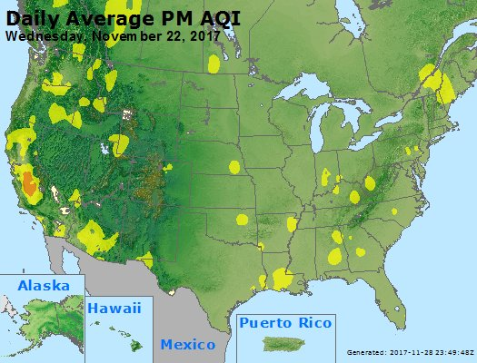 Peak Particles PM2.5 (24-hour) - https://files.airnowtech.org/airnow/2017/20171122/peak_pm25_usa.jpg