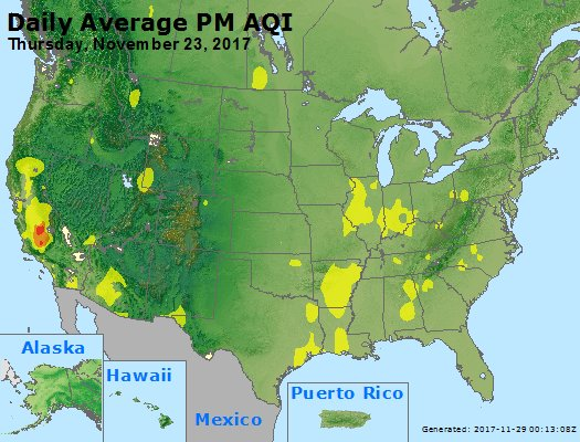 Peak Particles PM2.5 (24-hour) - https://files.airnowtech.org/airnow/2017/20171123/peak_pm25_usa.jpg