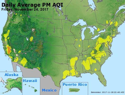 Peak Particles PM2.5 (24-hour) - https://files.airnowtech.org/airnow/2017/20171124/peak_pm25_usa.jpg