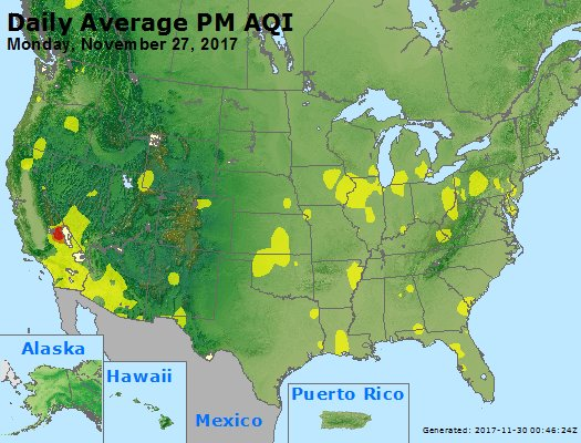 Peak Particles PM2.5 (24-hour) - https://files.airnowtech.org/airnow/2017/20171127/peak_pm25_usa.jpg