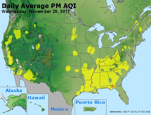 Peak Particles PM2.5 (24-hour) - https://files.airnowtech.org/airnow/2017/20171129/peak_pm25_usa.jpg
