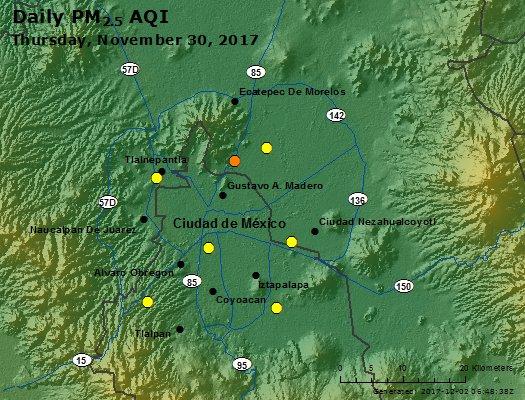 Peak Particles PM2.5 (24-hour) - https://files.airnowtech.org/airnow/2017/20171130/peak_pm25_mexico_city.jpg