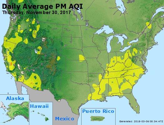 Peak Particles PM2.5 (24-hour) - https://files.airnowtech.org/airnow/2017/20171130/peak_pm25_usa.jpg