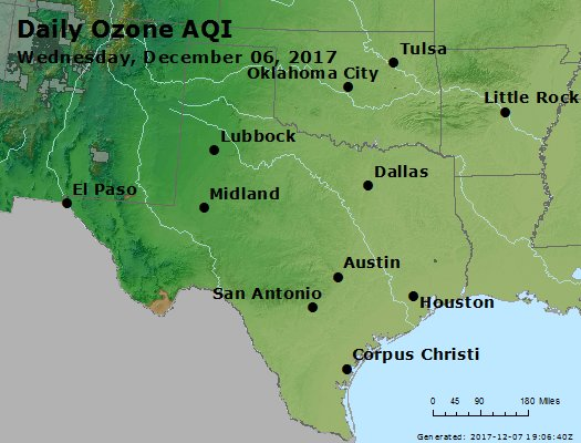 Peak Ozone (8-hour) - https://files.airnowtech.org/airnow/2017/20171206/peak_o3_tx_ok.jpg