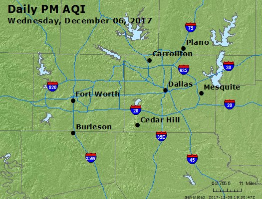 Peak Particles PM2.5 (24-hour) - https://files.airnowtech.org/airnow/2017/20171206/peak_pm25_dallas_tx.jpg