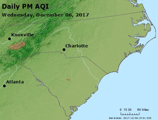 Peak Particles PM2.5 (24-hour) - https://files.airnowtech.org/airnow/2017/20171206/peak_pm25_nc_sc.jpg