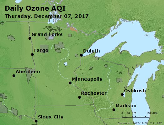 Peak Ozone (8-hour) - https://files.airnowtech.org/airnow/2017/20171207/peak_o3_mn_wi.jpg