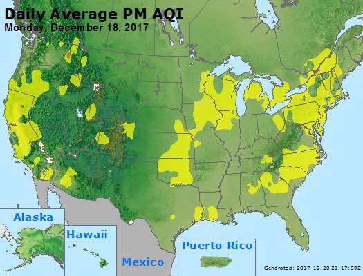 Peak Particles PM2.5 (24-hour) - https://files.airnowtech.org/airnow/2017/20171218/peak_pm25_usa.jpg