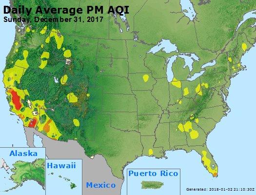 Peak Particles PM2.5 (24-hour) - https://files.airnowtech.org/airnow/2017/20171231/peak_pm25_usa.jpg