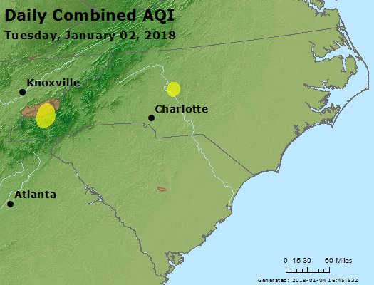 Peak AQI - https://files.airnowtech.org/airnow/2018/20180102/peak_aqi_nc_sc.jpg