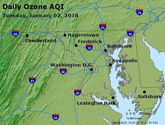 Peak Ozone (8-hour) - https://files.airnowtech.org/airnow/2018/20180102/peak_o3_maryland.jpg