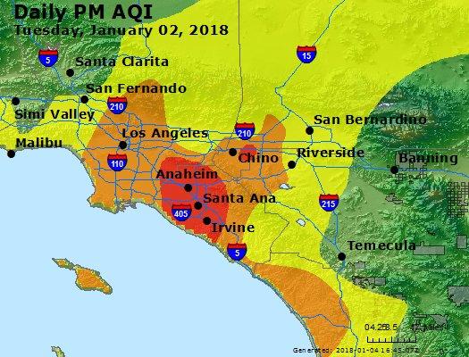 Peak Particles PM2.5 (24-hour) - https://files.airnowtech.org/airnow/2018/20180102/peak_pm25_losangeles_ca.jpg