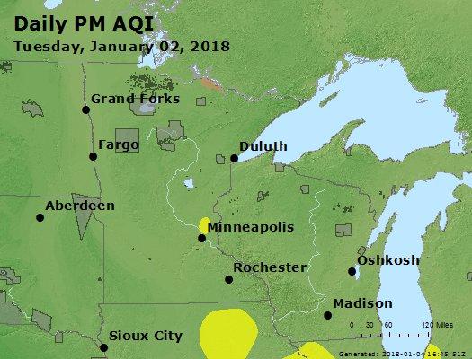 Peak Particles PM2.5 (24-hour) - https://files.airnowtech.org/airnow/2018/20180102/peak_pm25_mn_wi.jpg