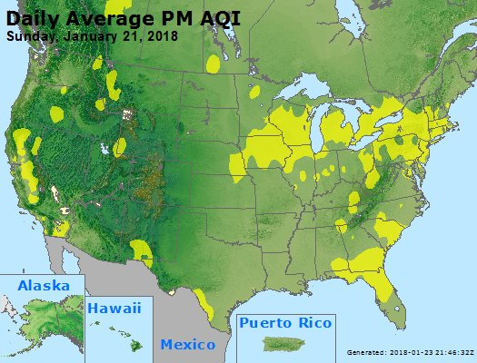 Peak Particles PM2.5 (24-hour) - https://files.airnowtech.org/airnow/2018/20180121/peak_pm25_usa.jpg