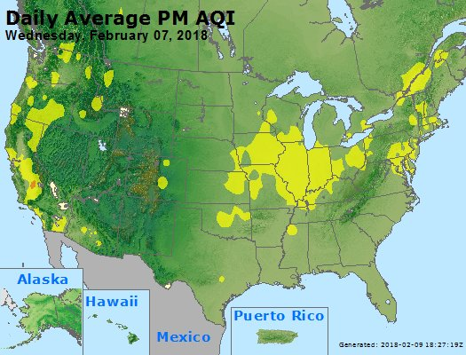 Peak Particles PM2.5 (24-hour) - https://files.airnowtech.org/airnow/2018/20180207/peak_pm25_usa.jpg